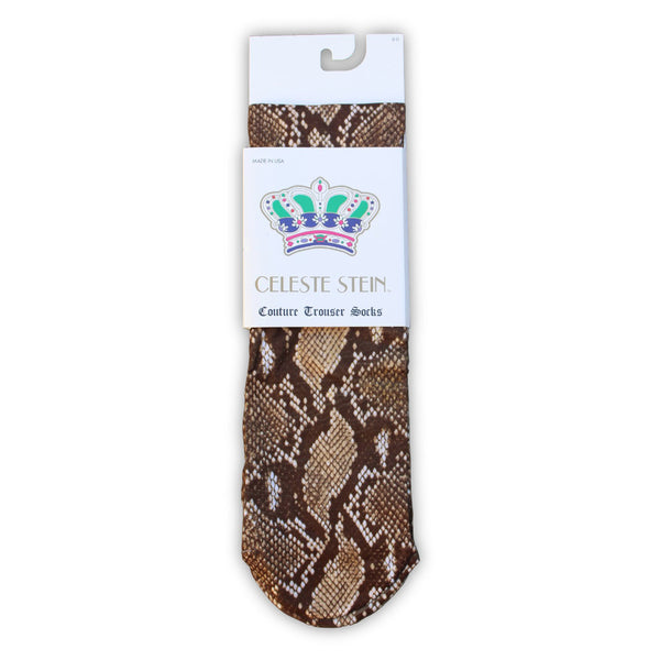 Chocolate Snake Knee Socks