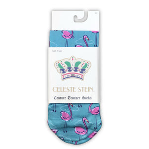 Flamingo And Pearls Ankle Socks