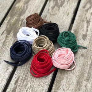Flat Shoelaces 140 cm Waxed Cotton
