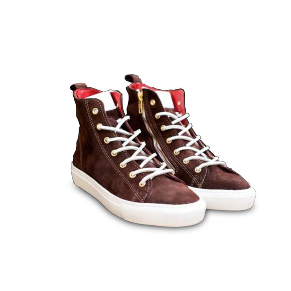HIGH SNEAKERS Brown suede