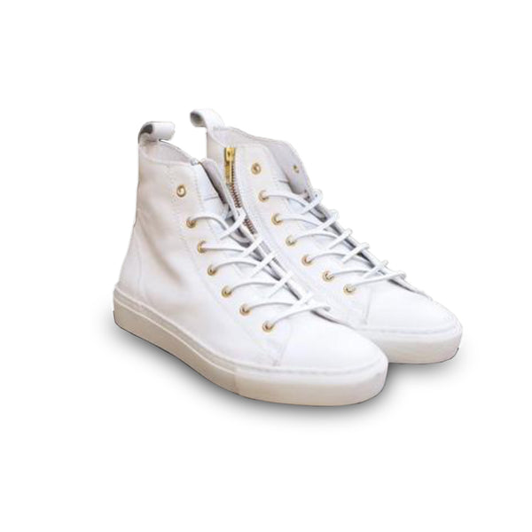 HIGH SNEAKERS  White Leather