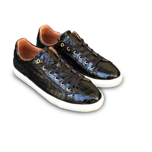 LOW SNEAKERS Black Croco Gloss