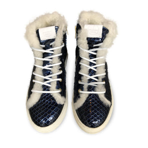 Winter Sneakers Blue Croco