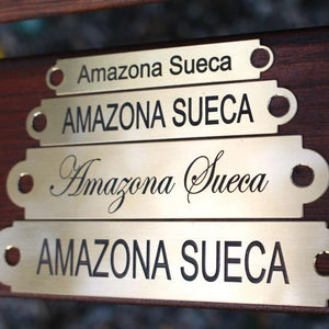 Engraved name plates for saddles