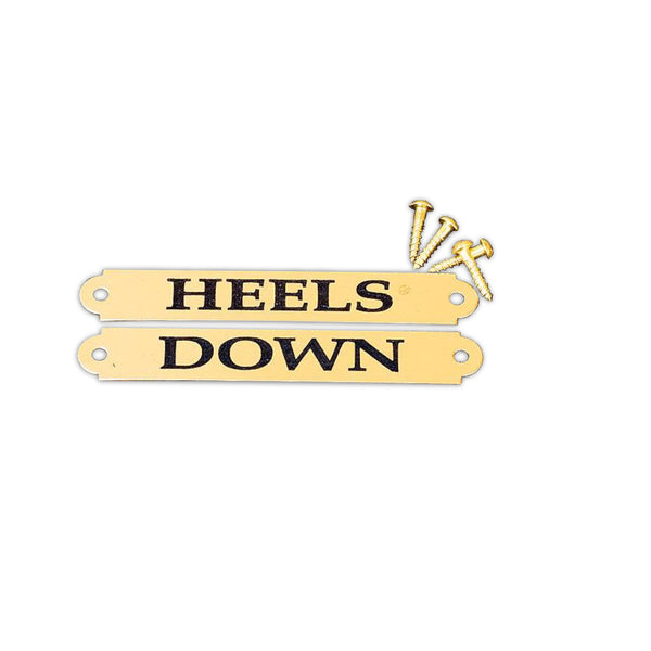HEELS DOWN - Engraved Nameplates For Boots