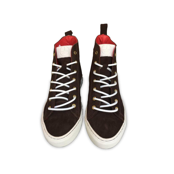 HIGH SNEAKERS Coffee Brown Suede (Size 46)