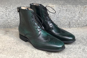 BRITO  Polished Green Leather