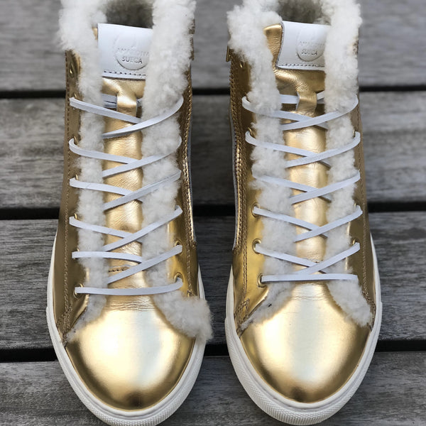 WINTER SNEAKERS Gold (Size 39)