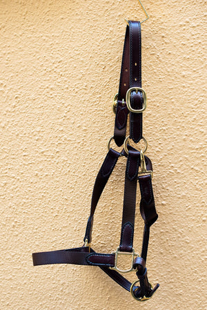 Chocolate Brown Nylon Halter