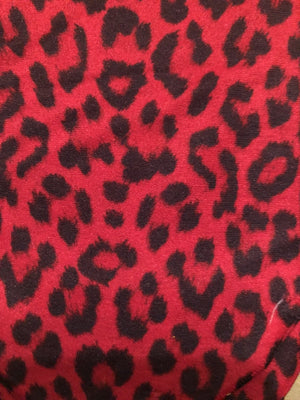 Red Leopard Knee Socks