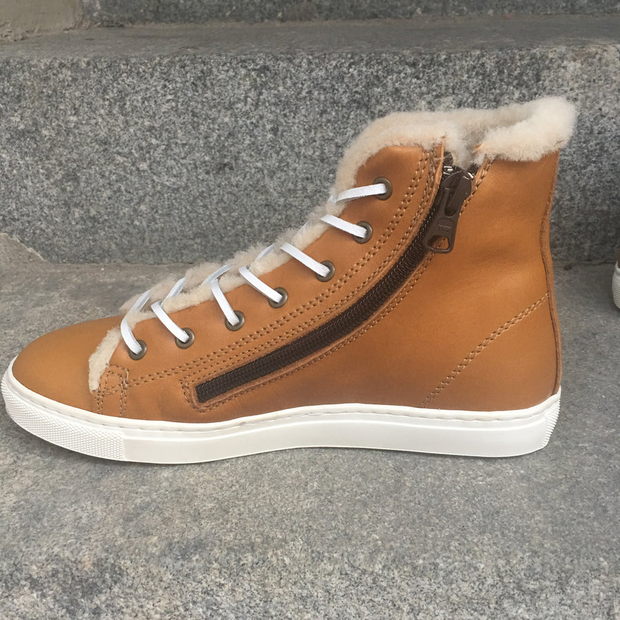 WINTER SNEAKERS Light Brown Leather