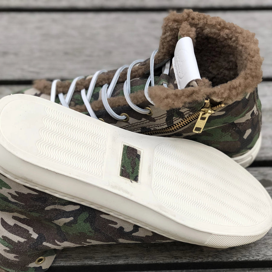 PRE ORDER Winter Sneakers Camouflage Suede