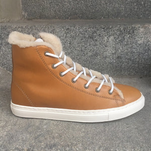 Winter sneakers - Light brown leather