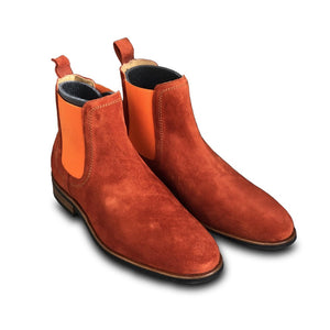 MOEMA Chelsea Boot orange suede mocka