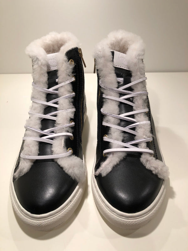 Winter sneakers - Black leather