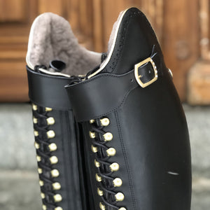 BIA DRESSAGE WINTER - Black with gold piping, size 37