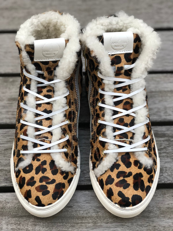 Winter sneakers - Furry leopard