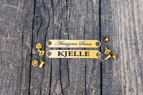 2  Engraved Name Plates For Spur Protectors