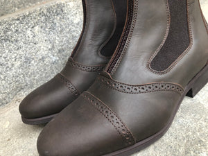 MISTRAL - Waxed brown leather