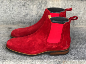 MOEMA Chelsea Boot Red Suede