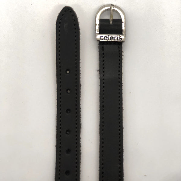 Black waxed Spur Straps