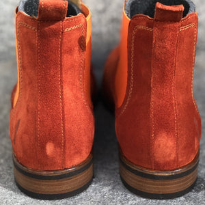 MOEMA Chelsea Boot Orange Suede