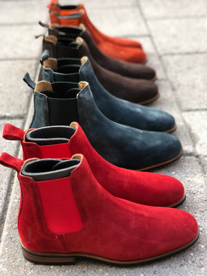 **COMING SOON** MOEMA  Chelsea Boot Orange Suede