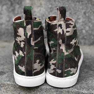 HIGH SNEAKERS Camouflage Suede