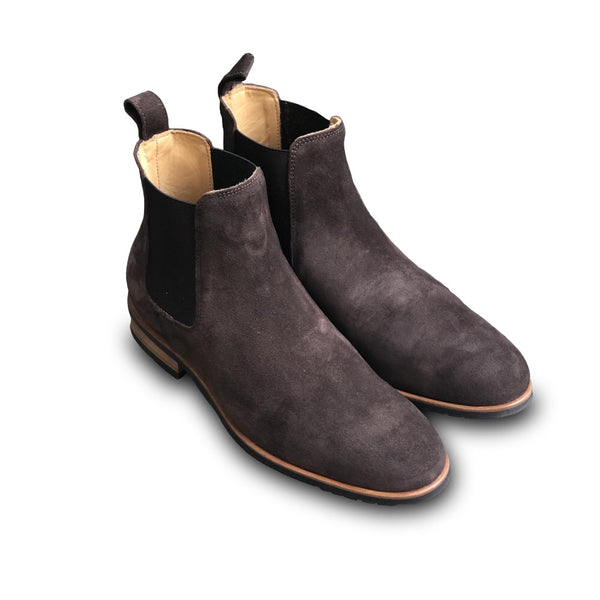MOEMA Chelsea Boot Coffee Brown Suede