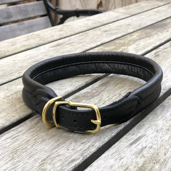 Padded Dog Collar Black