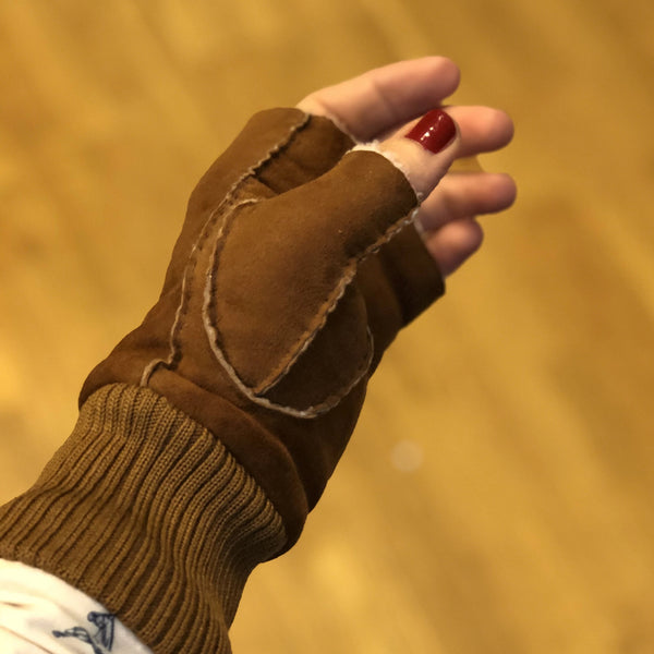 FRIO winter glove cognac