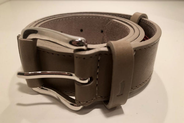 Beige leather belt