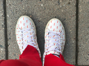 LOW SNEAKERS White With Red Boots