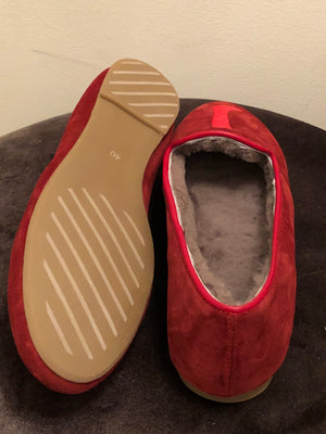 AUGUSTA SHEEPSKIN Red Suede