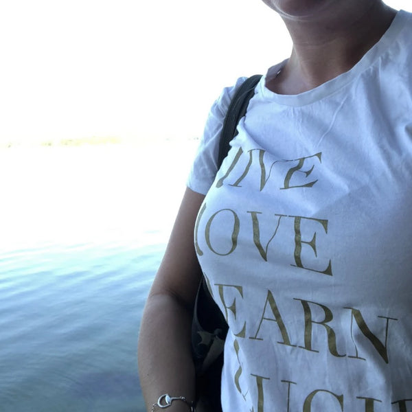 T-shirt Live Love Learn Laugh