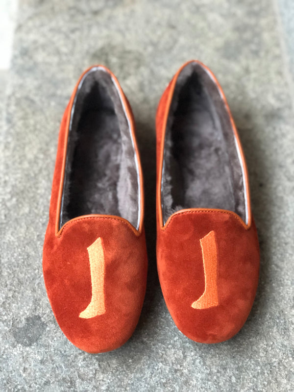 AUGUSTA SHEEPSKIN Orange suede