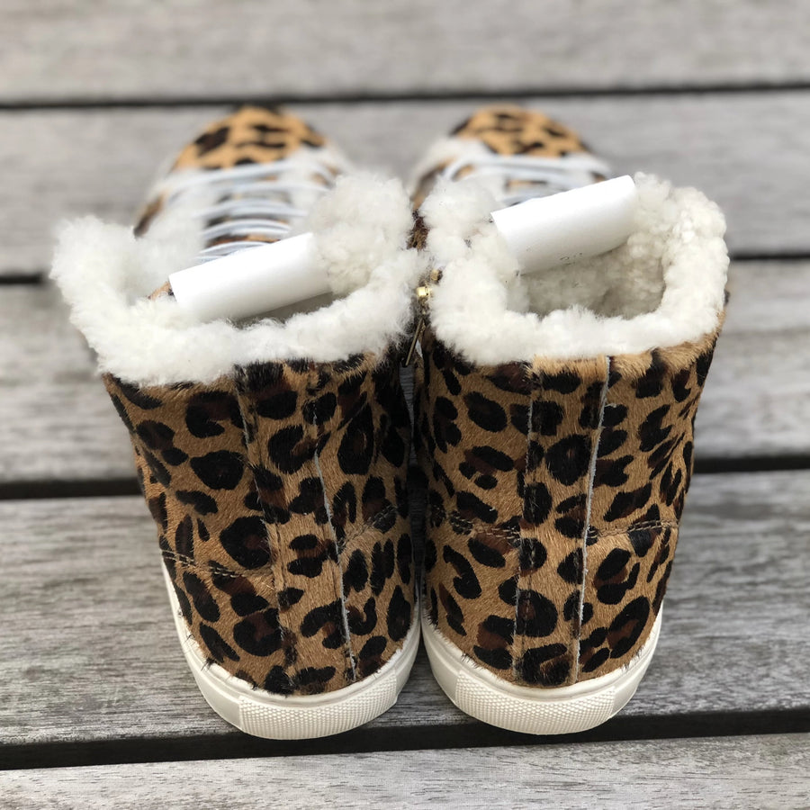 WINTER SNEAKERS Furry Leopard