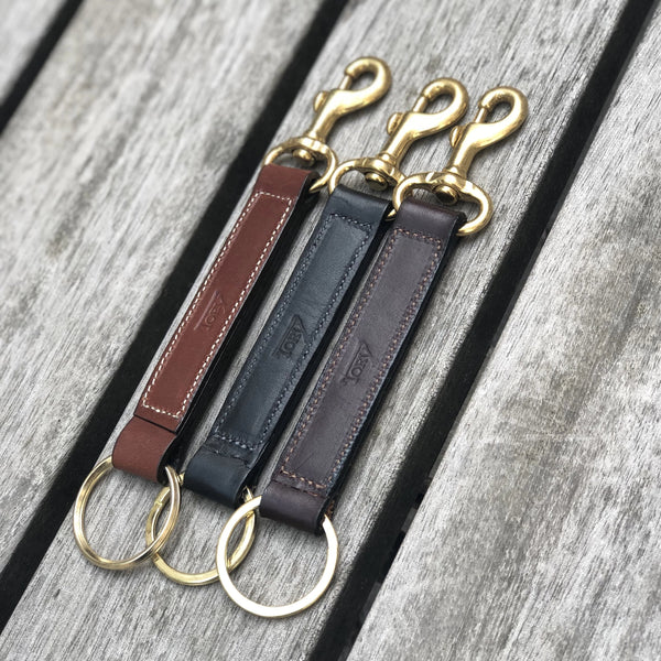 Keyring Strap With Brass Snap