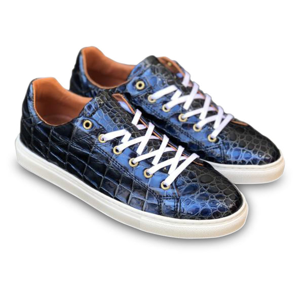sneakers blue blå croco