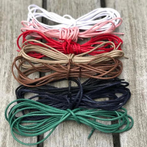 Round Shoelaces 140 cm Waxed Cotton