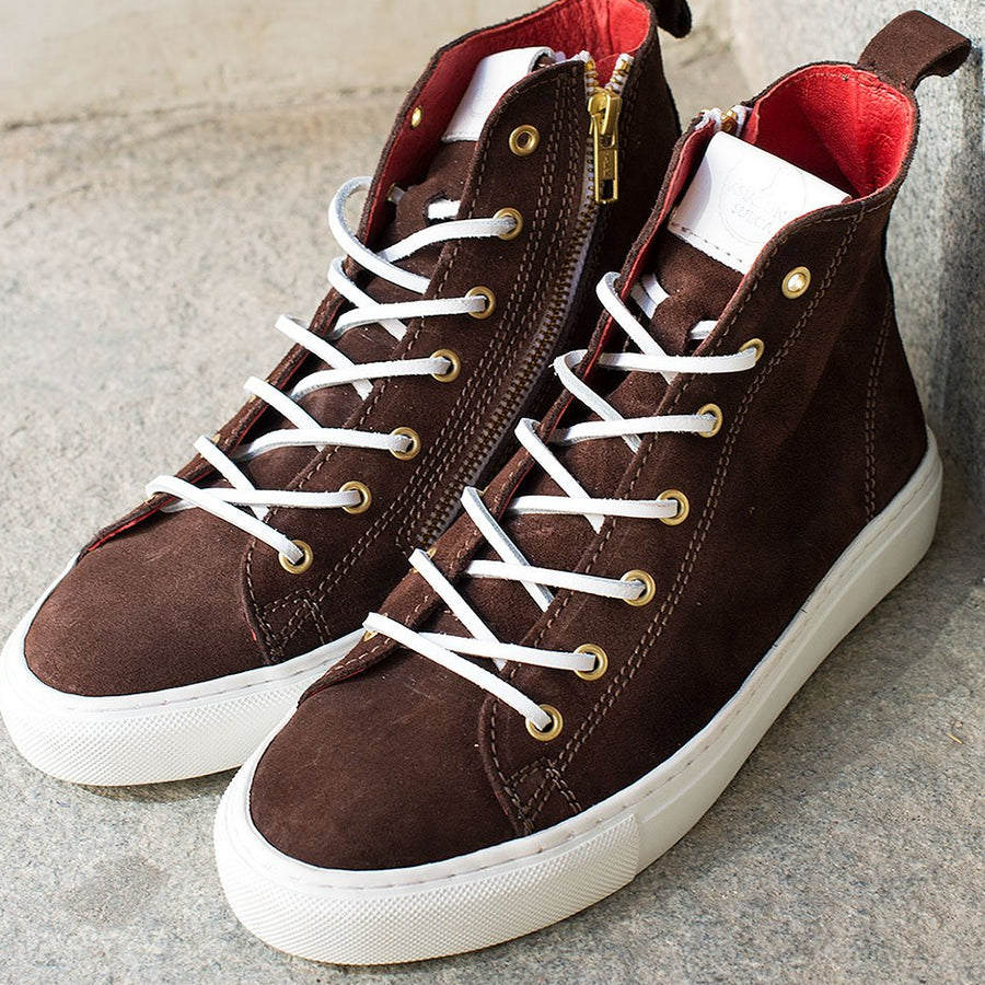 HIGH SNEAKERS Brown suede (Size 37, 40 & 41)