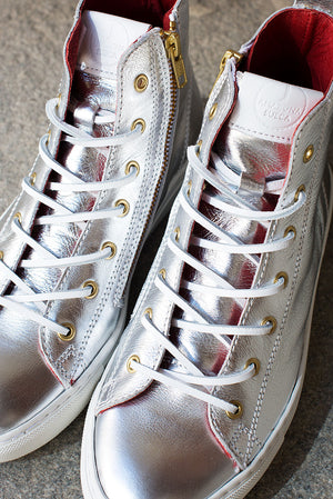 Sneakers - Silver leather