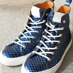 **COMING SOON** Sneakers - Blue croco gloss