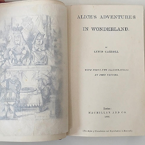 Alice's Adventures in Wonderland by Lewis Carroll - First Edition