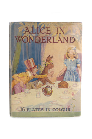 Original 'Alice In Wonderland' Dustwrapper Artwork by Margaret Tarrant