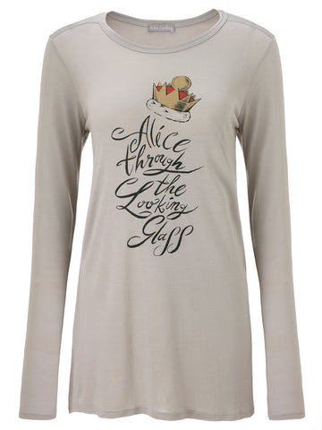 Alice Through The Looking Glass Red Crown T-Shirt - Long Sleeve