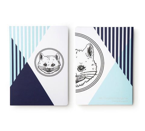 Blue Luxury Cat Notebook