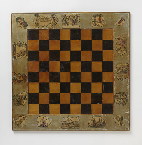 Sir John Tenniel's Original Alice Chessboard