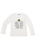 Alice Through The Looking Glass Children's Reflective Mirror White T-Shirt - Long Sleeve