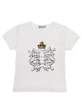 Alice Through The Looking Glass Children's Reflective Mirror White T-Shirt - Short Sleeve